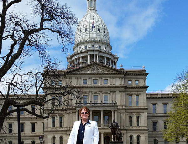 Residential Hospice music therapist Sara DiCiesare recently made (sound) waves at Michigan's capital to encourage recognition of her discipline.