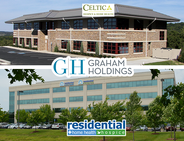 Representatives announced that Celtic Healthcare and Residential Healthcare Group will be merging 7/1/16 under the umbrella of Graham Holdings Company.