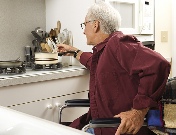 In the most essential but hazardous rooms in the home, increase safety and independence with an in-home occupational therapist and alterations.