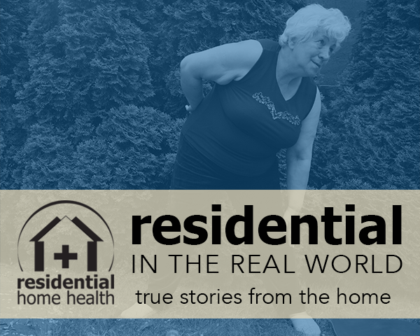 Residential Home Health physical therapist Tom's persistent support helped empower his patient to accomplish an intimidating treatment goal.